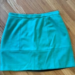 River Island Green Suede Skirt